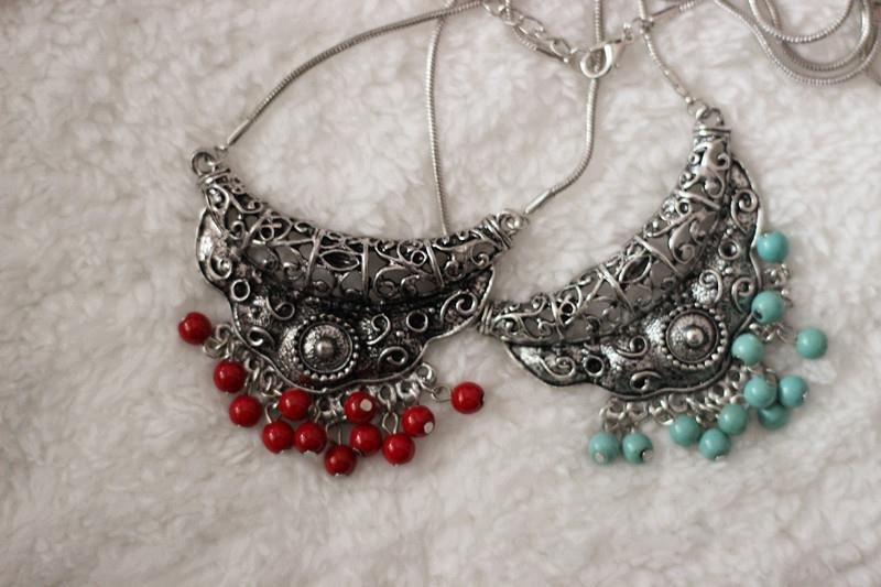 Star Jewelry Vintage Tibetan Silver Plated Statement Necklaces Turquoise Necklace & Pendants Woman gIFT New Z18 - Mamojko Store store