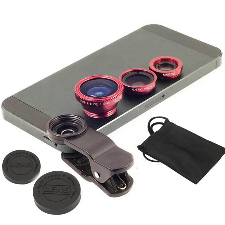 Universal Clip-on Fish Eye Macro lens Wide Angle Mobile Phone Lens for all iPhone 4 5 6 Samsung S4 S5 note2 3 MOTOROLA(China (Mainland))