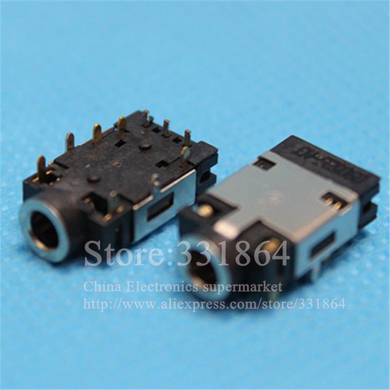 3.5 Audio Jack MIC Connector Socket For Lenovo Y400 Y500 Y580 Y410 Y410P Y430 Y430P Headphone Jack  2pcs<br><br>Aliexpress