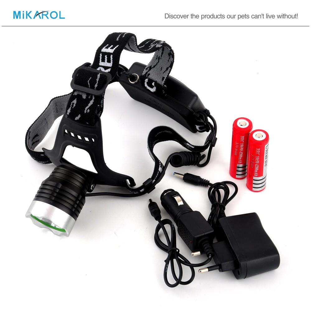 2000 Lumen CREE T6 LED Headlamp Headlight Caming Hunting Head Light Lamp 3 Modes + 2*18650 Battery + EU/US Charger(China (Mainland))