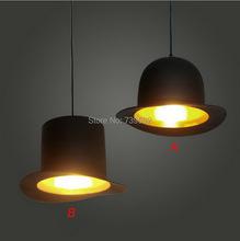 hat shape Tom musical instrument pendant light small vintage restaurant lamp bar pendant lamps(China (Mainland))