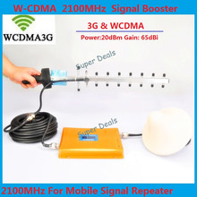 Full set LCD Booster!! W-CDMA 3G 2100MHz Repeater , GSM Signal Booster, Cell Phone Amplifier + Antenna - Super__Deals store