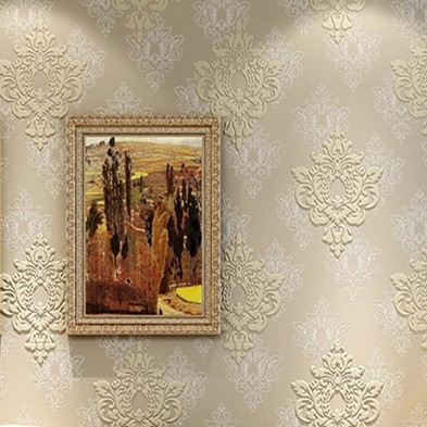 Vintage Wallpaper Roll Papel De Parede 3d Damask Fabric Wall Covering 10m Home Decor Dzk90 In