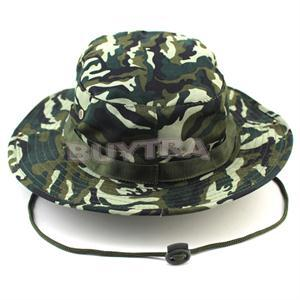 Outdoor Military Camping Hiking Camo Bucket Hat Cover Wide Brim Sombrero Army Camouflage Sunshade Hats Camuflaje Casual Cap