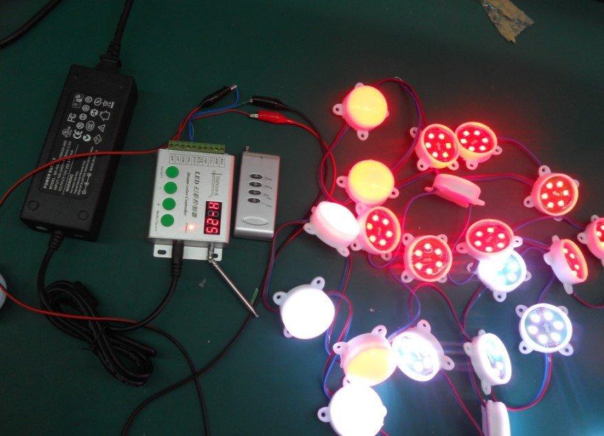 12V WS2811 pixel module(6pcs 5050 smd rgb;45mm diameter) 40pcs +12V/6A power adaptor+WS2811 RF controller(China (Mainland))