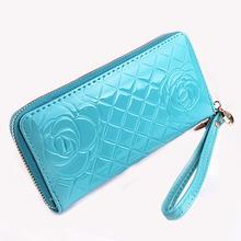 2016 New Wallets fashion women wallets famous luxury brand Purse pu leather Handbags lady purse long wallet Women PurseRose