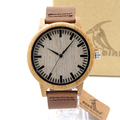 BOBO BIRD A16 Women Wooden Bamboo Watches for Men Real Leather Strap Quartz Watches for Women