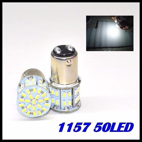 Wholesale Free Shipping New 12V S25 BA15S 1157 50SMD 1206 Brake LED Car Auto Lights white<br><br>Aliexpress