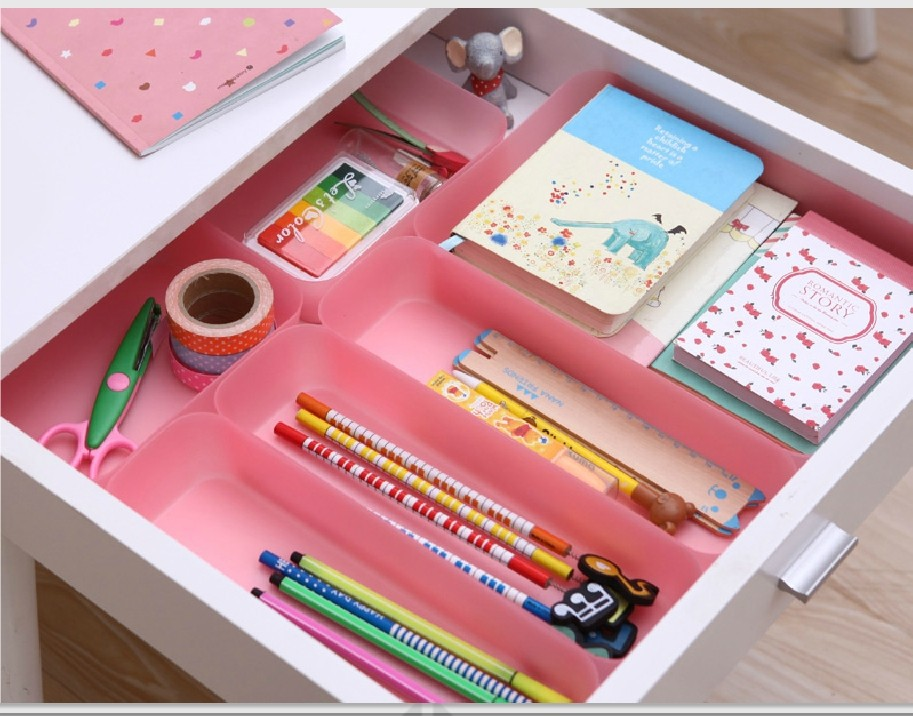 Kitchen Tools Desktop Storage Cosmetic Makeup Organizer Box Multifunction Drawer Storage Boxes(China (Mainland))
