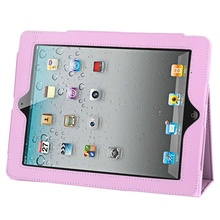 100% High Quality PU Leather Case Flip Stand Cover with Power Nap for iPad 2 iPad 3 iPad 4(China (Mainland))