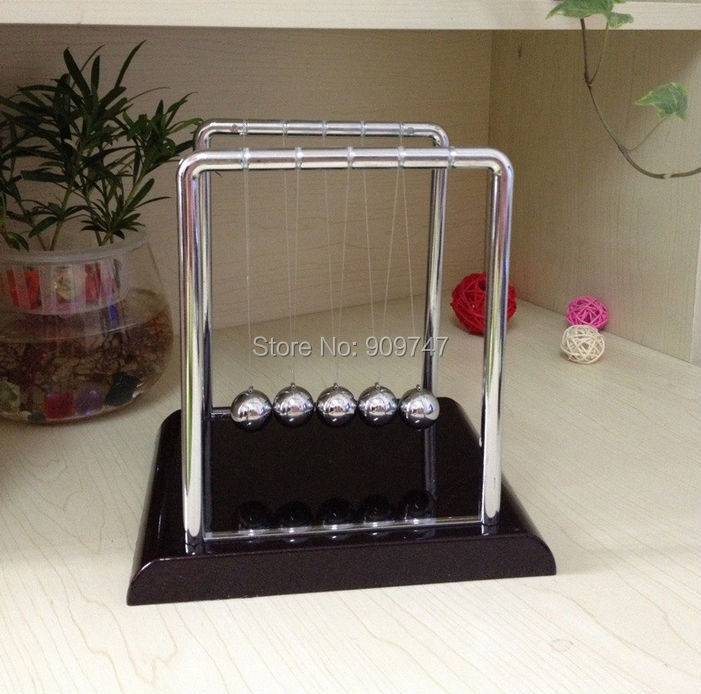 Newton Cradle Steel Balance Ball Physic School Educational Supplies teaching Science Desk toys Free shipping(China (Mainland))