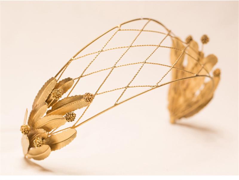 Gold Baroque Crown Tiara Head Jewelry Hair Accessories Diadem Mariage Bijoux De Tete Cheveux Corona Casamento WIGO0723<br><br>Aliexpress