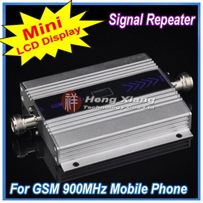 LCD Display !! Mini GSM 900Mhz Mobile Phone Signal Booster , Repeater Cell Amplifier + Power Adapter - Shenzhen Hengxiang Technology Co., Ltd store