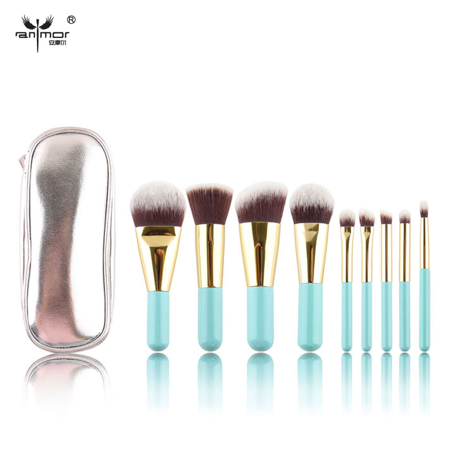 Free Shipment Synthetic Hair Lovely Mini Makeup Brushes set 9 Pieces Make up Brush kit<br><br>Aliexpress
