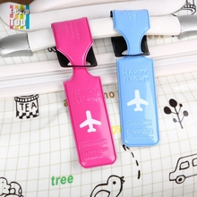 Happy Flight Travel Luggage Label Strap ID/Address/Name Luggage Tags Holder Mixproof Recognizable For Bag/Backpack Travel(China (Mainland))