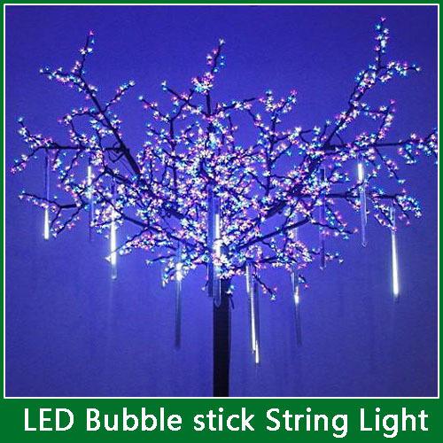 1Set New 20cm 20LED Meteor Shower Rain Tubes Christmas Decorative String Light Led Lamp Holiday Light FREE SHIPPING(China (Mainland))