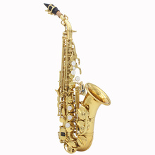 Top Quality LADE Brass Golden Carve Pattern Bb Bend Althorn Soprano Saxophone Sax Pearl White Shell Buttons Wind Instrument(China (Mainland))