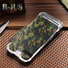 for iphone6 plus 5.5 Armor King camouflage Stainlesssteel metal flip case for iphone 6s plus Iron Man ShockProof Cover case