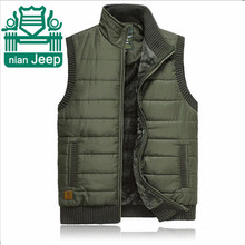 NIAN AFS JEEP Winter Cashmere Inside Men's Thickness Warmly Vest,Mandarin Collar Original Brand Waistcoat,High Quality Coats (China (Mainland))
