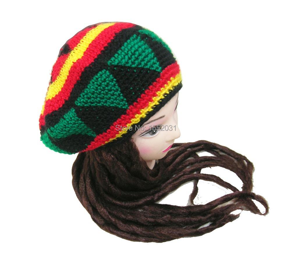 اليدوية الجامايكي الراستا قبعة قبعة مع المجدل لمة jameican tams EM-S21 تنكرية بينيس الكروشيه الراستا gorro(China (Mainland))