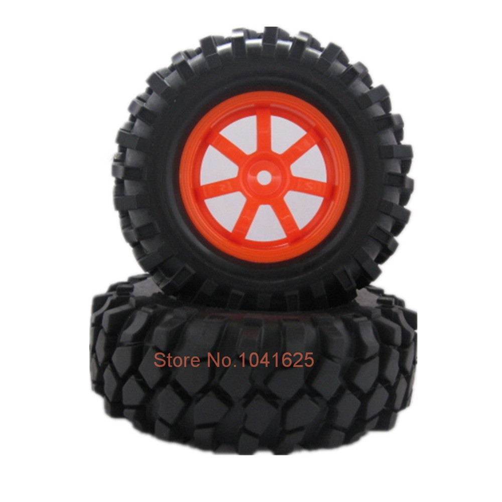 For 1-10 Scale RC Rock Crawler Car Rubber 1.9 inch Rock Crawler Truck Tires Tyre Wheels Rim Hex:12mm 108mm Pack of 4