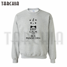 TARCHIA European Style fashion free shipping hoodies keep calm and be a pandicorn sweatshirt personalized man coat cozy wear