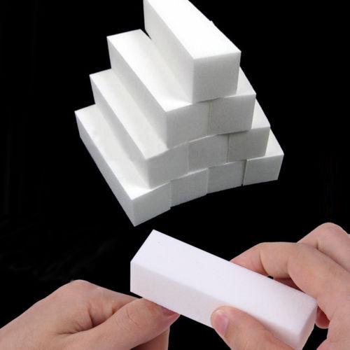 Бесплатная доставка 10 Шт. Белый Полировка Шлифовка Файлы Блок Педикюр Маникюр Уход Nail Art Буфера