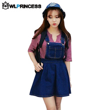 Owlprincess Wash Out Denim Jeans Hollow Out Spaghetti Strap Jeans Dress Kawaii Preppy Style Woman Denim Sundresses Vestidos(China (Mainland))