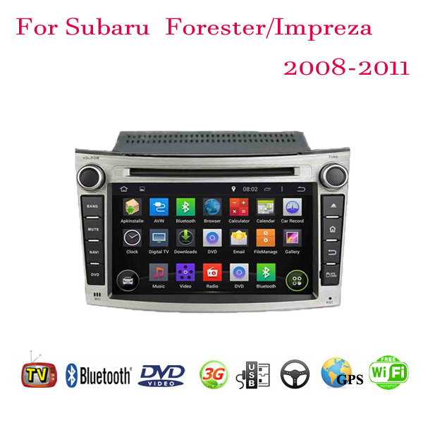 2 Din Android 4.4 Fit Subaru Forester Impreza 2008 2009 2010 2011 Car DVD Player GPS TV 3G Radio Steering Wheel Control(China (Mainland))