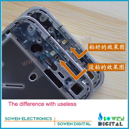 for iphone 4 4g Strengthen Light sensor slice piece,for power flex sensor flex cable, FREE shipping