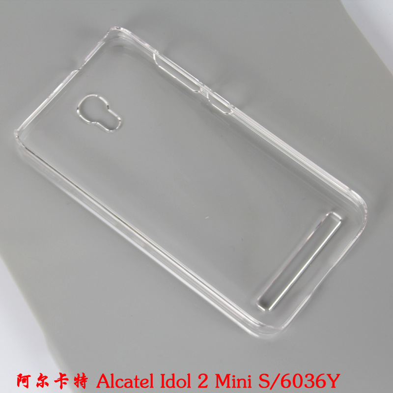Crystal Transparent Clear Back Protector Diy hard Case skin cover Alcatel Idol 2 Mini S 6036 - e For City store