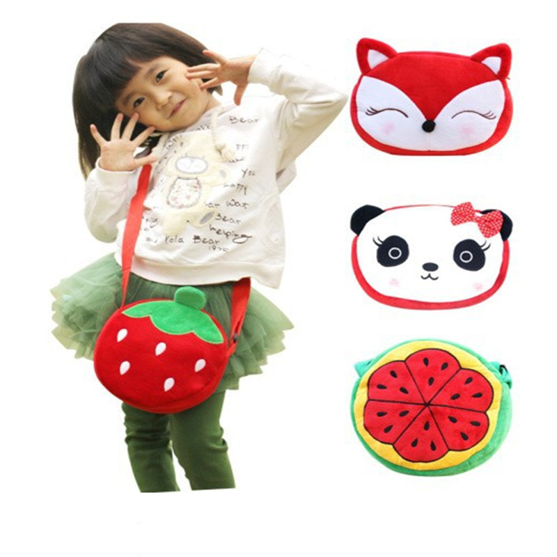 Factory Wholesale UP 15Models Kawaii 22*16CM Plush Baby KID Satchel BAG Children School Messenger BAG Kindergarten Shoulder BAG(China (Mainland))