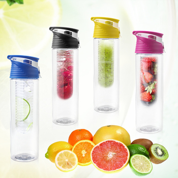 2016 Hot 800ml Cycling Sport Fruit Infusing Infuser Water Lemon Cup Juice Bicycle Health Eco-Friendly BPA Detox Bottle Flip Lid