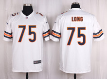 100% Elite men Chicago Bears WOMEN YOUTH KIDS HOT SALE NEW FAST SHIPPING 75 Kyle Long(China (Mainland))