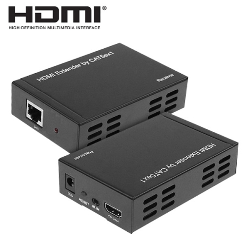 Full HD 1080P HDMI Extender Transmitter + Receiver One 100m CAT5E / CAT6 (TCP/IP)