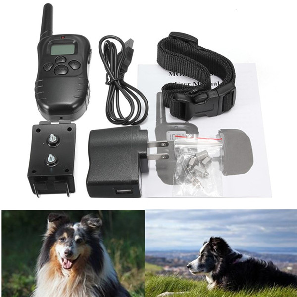 Newest High Quality 300M Rechargeable And Waterproof Shock Vibra Remote Control LCD Electric Pet Dog Training Collar(China (Mainland))