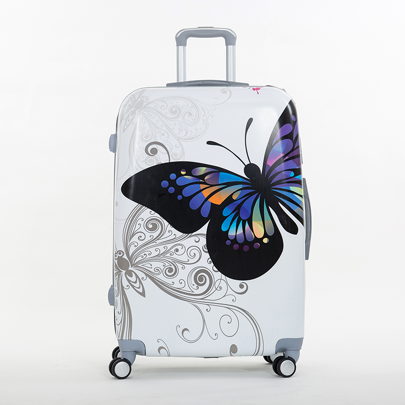 Abs butterfly trolley luggage bag universal wheels travel picture box 14 20 24 28box female sets,cartoon set - Yiwu Winyard E-commerce Store store