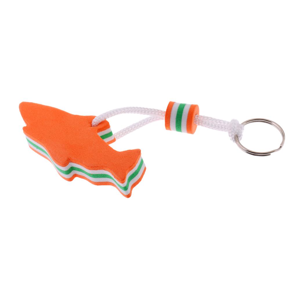 EVA Dolphin Shaped Floating Key Ring Key Chain Water Buoyant Key Holder for Boat Yachting Sailing Water Sports Blue/Orange