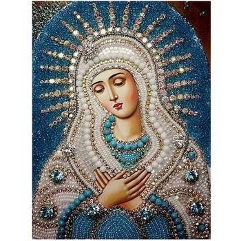 Оптовая продажа 3D DIY алмазные картины мозаика девы марии украшение стразами стены стикеры вышивка рукоделие