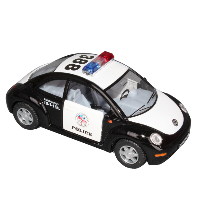 free shipping Soft world kt5028dp alloy toy car vw beetle police car alloy car model toy car
