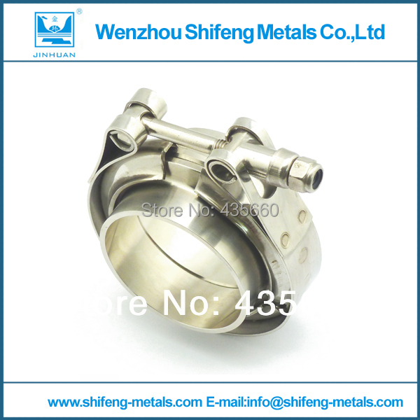 """2"""" Self Aligning V-Band Vband Clamp Flange Kit Turbo Exhaust Stainless for Auto downpipe clamp(China (Mainland))"""