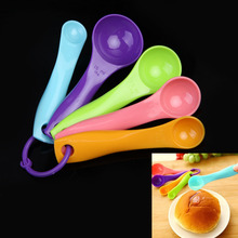 Super-Useful 5PC Kitchen Colourworks Measuring Spoons Spoon Cup Baking Utensil Set Kit (China (Mainland))
