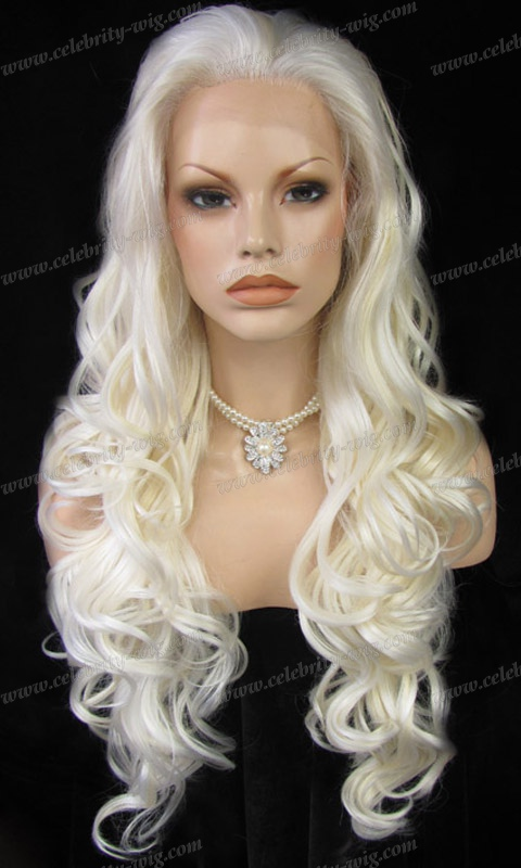 5 Ft White Blonde Wig 55