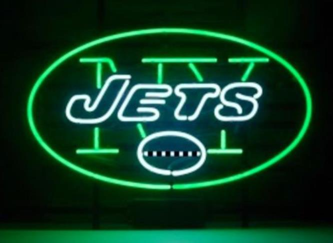 """Business Custom NEON SIGN board For Football NFL New York Jets REAL GLASS Tube BEER BAR PUB Club Shop Light Signs 15*12""""(China (Mainland))"""