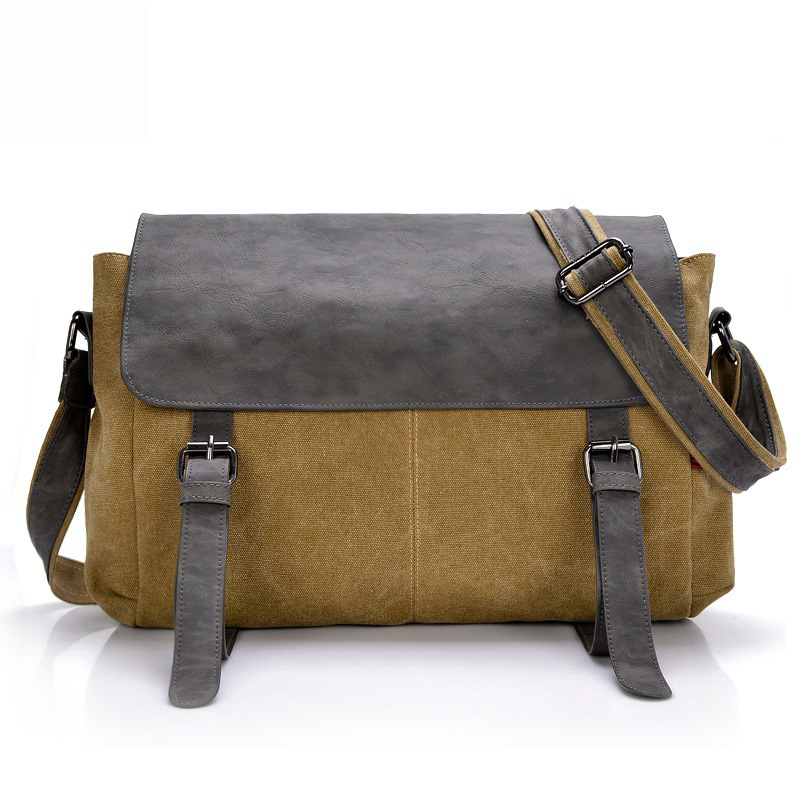 High Quality Canvas Men  Bag Shoulder Bag Large Capacity Men Business Messenger  Shoulder Bags New Style Fashion Brand Bag