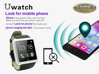 U Watch 2015 U U10 U10l blUetooth Smart Smartwatch iPhone 6 samsUng HTC 10Pcs/lot DHL U10 Plus / U10L