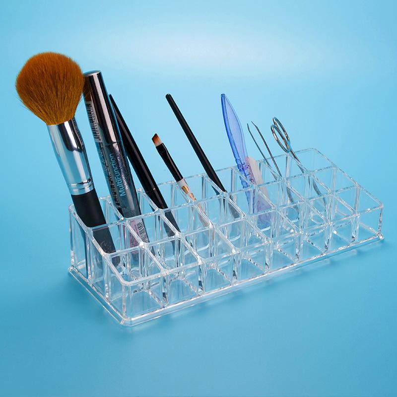 Organizador Acrylic Makeup Organizer Free Shipping Crystal Kit Cosmetic Cotton Box Jewelry Gloss Storage box.(China (Mainland))