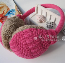 Knitted Earmuffs Baby Cache Oreilles Child Ear Muffs For Boy Earmuffs For Girls Baby Gift Ear Warmers Winter H253(China (Mainland))