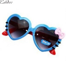 1PC Bow Hello Kitty Girls Sunglasses Lovely Heart Sunglasses For Children Baby Accessories ZZ3196