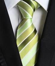Nouveau classique 100% soie hommes cravates cou cravates 8cm Plaid rayé cravates pour hommes formel affaires de luxe mariage fête cravates Gravatas(China)
